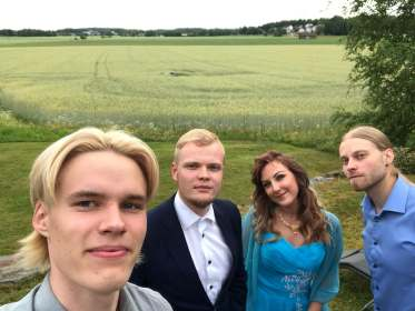 Mitja Erjossaari, Viljami Sainio, Tina Salminen, Viljami Viktors, Ilmaristen matkailutila 4.7.2020